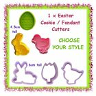 1 x Easter cookie or fondant cutter - CHOOSE YOUR STYLE - egg rabbit chick