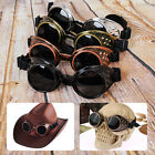 Vintage Victorian Steampunk Cyber Goggles Glasses Welding Punk Gothic Cosplay