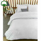 3 Pce Campana White 100% Cotton Ruched Quilt Cover Set - QUEEN KING Super King