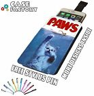 Movie Poster Jaws Paws Cute Kitten Cat - Universal Leather Phone Case Cover