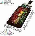Rasta Reggae Lion DJ Dread Locks Weed Herb - Universal Leather Phone Case Cover