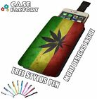 Cannabis Ganja Leaf Weed Kush Crop Flag - Universal Leather Phone Case Cover