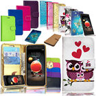 Premium Leather Wallet Stand Case Cover For Samsung Huawei Alcatel Sony Motorola