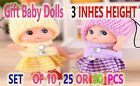 48 Baby dolls for parties and events-Mini Dolls 3 inches tall- Girls dolls