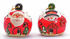 WHOLESALE 48 PIECES ChristmasTree LED Baubles Santa & Snowman Tree Decorations