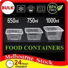 PK50 Lids Container Plastic Food Storage Lunch Takeaway Take Away Microwave Box