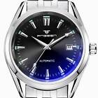 Luxury Stainless Steel Analog Watch Automatic Mechanical Mens Date Wristwatches