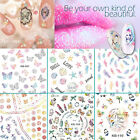 Nail Art Stickers Water Transfer Butterfly Mermaid Ocean Feather Girly Cosmetic
