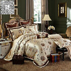 New Flower Quilt Covers Queen/King Size Bed New Satin Duvet/Doona Cover Set