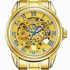 Luxury Skeleton Dial Stainless Steel Automatic Mechanical Watch Men's Wristwatch