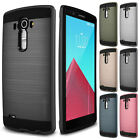Luxury Slim Brushed Hybrid Rubber Camera Protector Back Cover Case For LG G3 G4