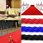 New 1.5m Twisted Queue Barrier Rope For Posts Stands Red / Black / Blue