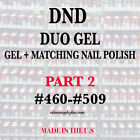 DND DAISY DUO GEL W/ MATCHING LACQUER) NAIL POLISH SET - CHO