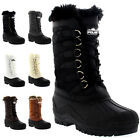 Womens Nylon Cold Weather Outdoor Snow Duck Winter Fur Cuff Lace Boot UK 3-10