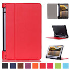 Luxury Rugged Hard Leather Folio Slim Case Cover For Lenovo Yoga Tab 3 850F 8.0""