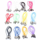 Lot 100pcs Mobile Phone Cord Charms Lanyard Strap Tag Clasp Jewellery Making