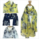 New Women Chiffon Scarves Ladies Silk Floral Scarf  Girls Printed Scarf Pashmina