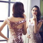 Women's Sequins Mermaid Wedding Dresses Formal Celebrity Ball Prom Gowns 08999