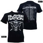 Authentic SLAYER Band Slayer Nation 2014 World Tour T-Shirt S-3XL NEW