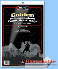 BCW: Comic Bags: RESEALABLE: GOLDEN or GOLDEN-THICK:  100ct    *FREE SHIP in USA