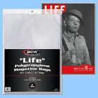 BCW: LIFE MAGAZINE Size Bags: 11 1/8 x 14¼ +flap 1 Pack (100ct) *FREE SHIP in US image
