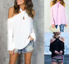 Kyпить Women's Long Sleeve Off Shoulder T Shirt Blouse Fashion Casual Loose Tops Shirt на еВаy.соm