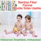 100x80cm Bamboo Fiber Flannel Changing Mat Waterproof Breathable Kids Urine Pad