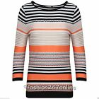 Ladies Ex-M&5 Aztec Print Round Neck 3/4 Sleeve T-Shirt In sizes 6 to 24