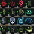 Pokemon Dragon Ball Z 3D LED 7 Colour Night Light Touch Desk Table Art Lamp Gift
