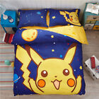 *** Pikachu Queen Bed Quilt Cover Set - Flat or Fitted Sheet ***