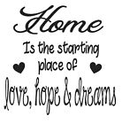 Home Is The Starting Place Frame/Block Decal