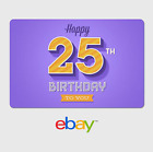 eBay Digital Gift Card - Happy 25th Birthday Purple -  Fast email delivery