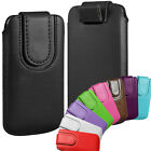 sony mobile xperia j - Magnetic PU Leather Pull Tab Flip Case Cover Pouch for Various Mobile Phones