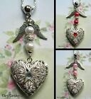 ANGEL WINGS HEART LOCKET NECKLACE PENDANT CHARM