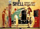 Funny RETRO METAL PLAQUE: SHELL SPIRT and MOTOR OILS  sign/Advert