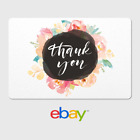 eBay Digital Gift Card - Thank You - Floral Water -  Fast Email Delivery