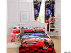 Lightning Mc Queen Doona Duvet Quilt Cover Set Single Size Fitted Sheet Curtain