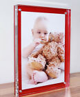 """Acrylic 20mm desk block picture photo frame for 7x5"""" foto all colours available"""