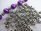50/ 100 Tibetan Corrugated Pumpkin  Lantern Spacer Beads 5mm - Antique Silver