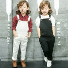 Girls Jumpsuit Suspender Overalls Trousers Bib Pants Causal