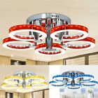 European 5 Types Round LED Lamps Acrylic Chandelier Ceiling Light w/ 5 Lights US