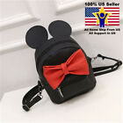 Girls MINI Mickey's Ear Leather Backpack Shoulder School Lovely Cute travel Bag