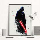 Watercolor Darth Vader Star Wars Minimalist Art Canvas Poster Room Decoration $6.71 CAD