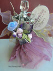 FAIRY DRESS AND WINGS PERFUME BOTTLE GLASS EMPTY SCENT - PERFUME NOT INCLUDED