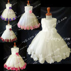 MFI6 Baby Infants Wedding Holy Communion Formal Pageant Holiday Prom Gown Dress