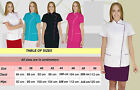 SPA Uniform Beauty Salon Tunic Pockets Therapist Dress Hair Massage Dentist Oliv