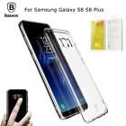 Baseus Clear TPU Shockproof Crystal Soft Case Cover for Samsung Galaxy S8 Plus