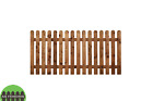 Flat Picket Garden Fence Panels   2ft/3ft/4ft High Round Top&pointed Top