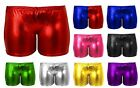 New Womens Stylish Harley Quinn Suicide Squad Metallic Sexy PVC Hotpant Shorts