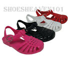New KIDS Girl Jelly Beach Sandals Gladiator Flats Flip Flops Slingback Shoes